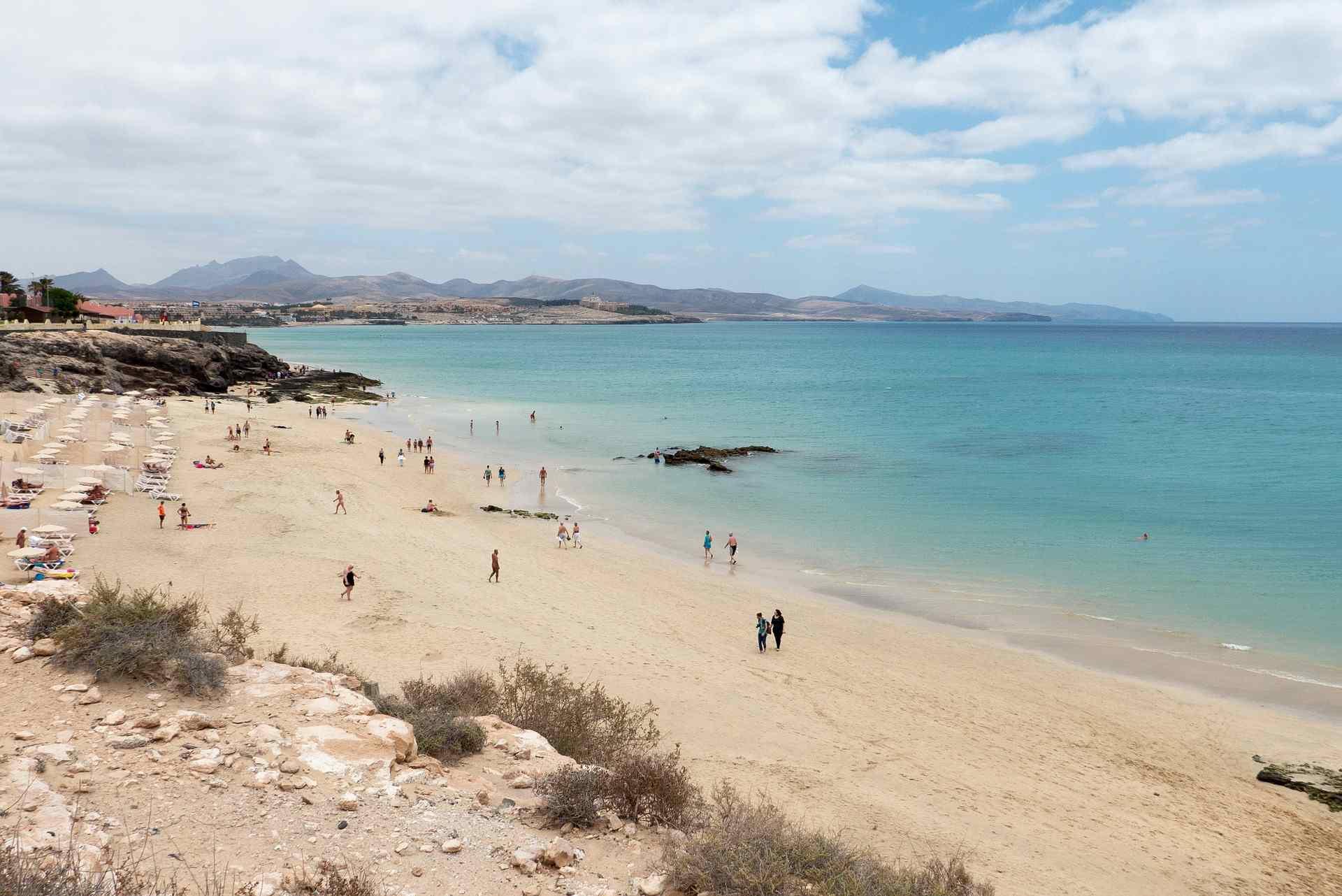 Strand an der Costa Calma auf Fuerteventura