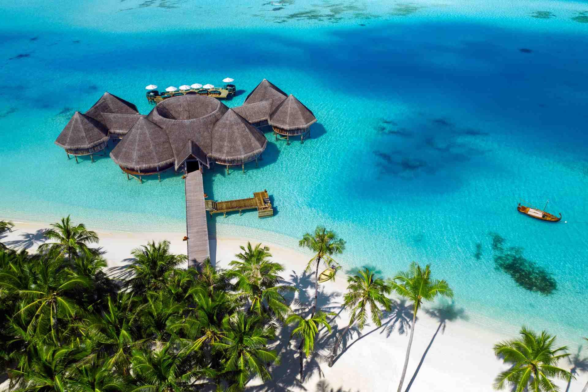 Öko-Resort Gili Lankanfushi aus der Luft