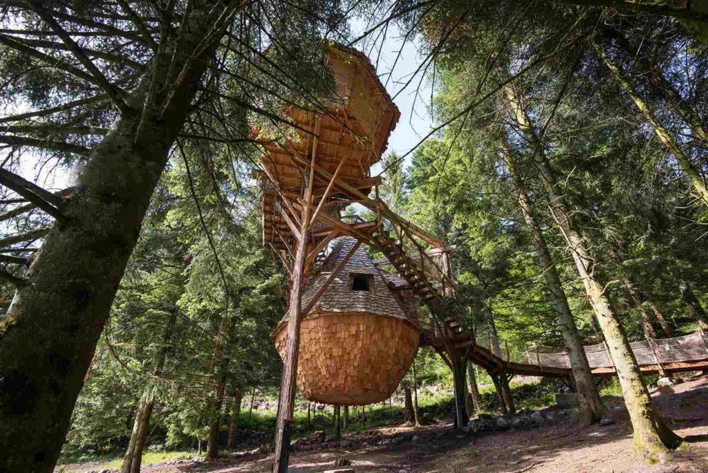 Baumhäuser in den Vogesen