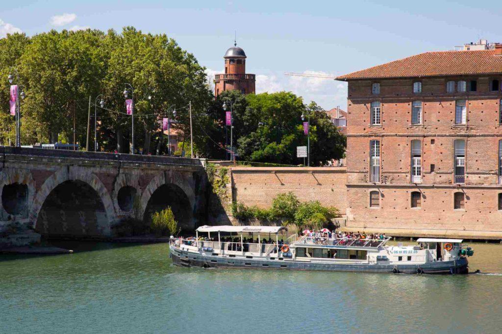 Bootstour auf dem Canal du Midi in Toulouse