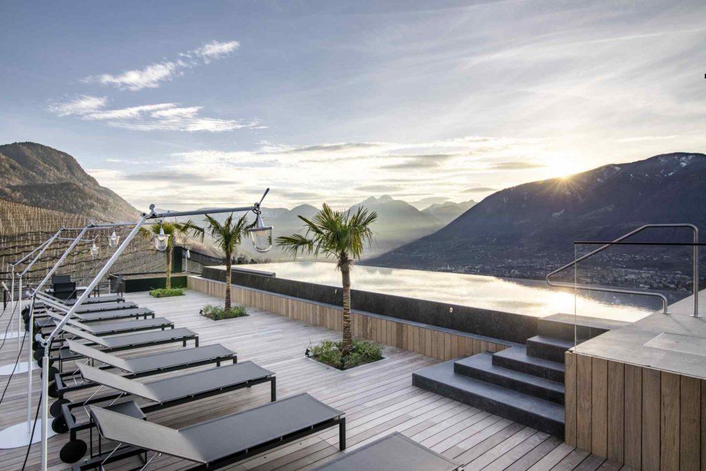 Dachterrasse mit Infinity Pool Apartment 7 in Schenna