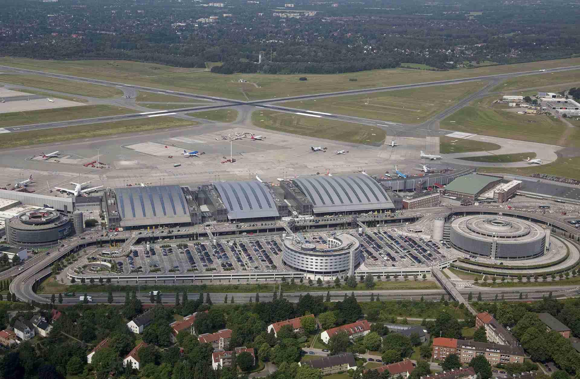 Flughafen Hamburg aus der Luftperspektive