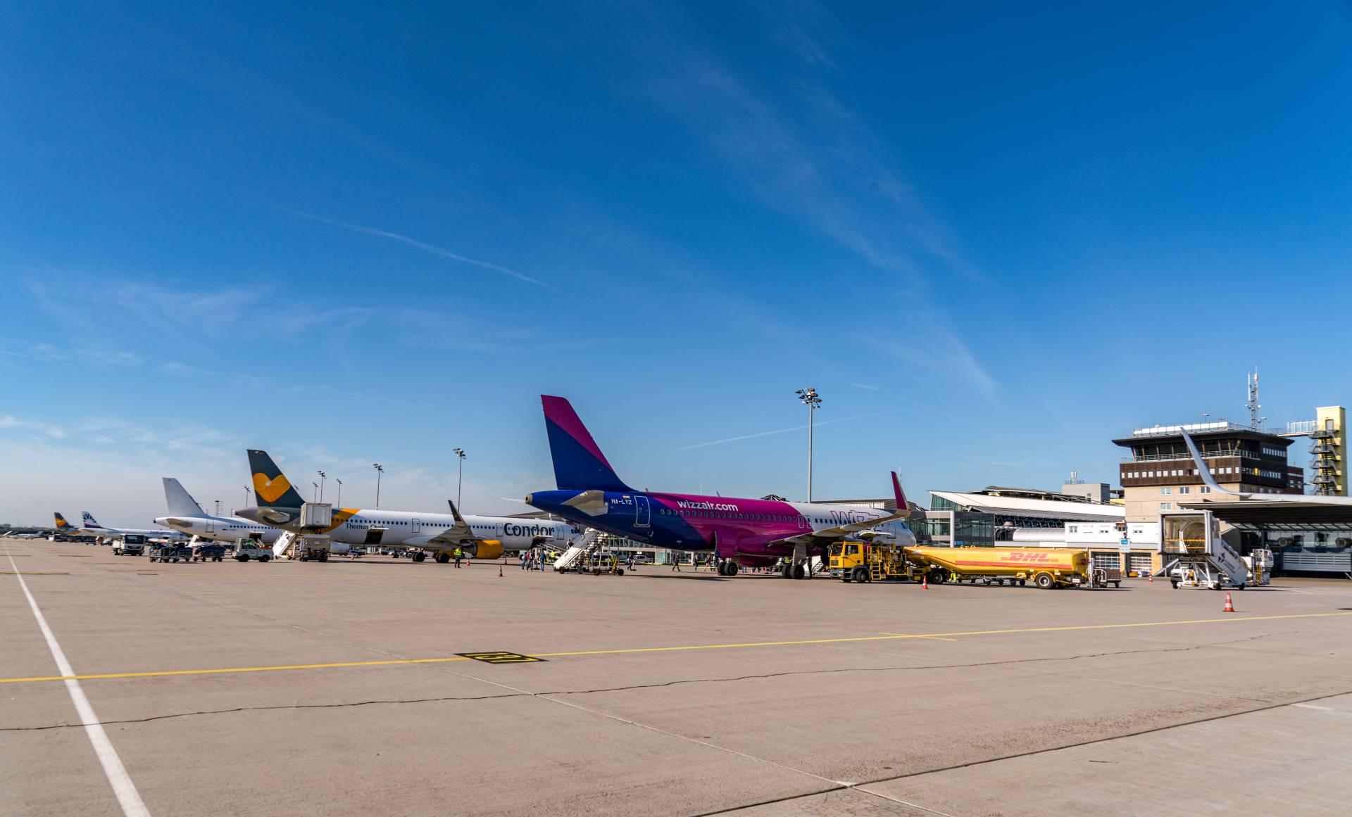 Flughafen Leipzig-Halle Vorfeld