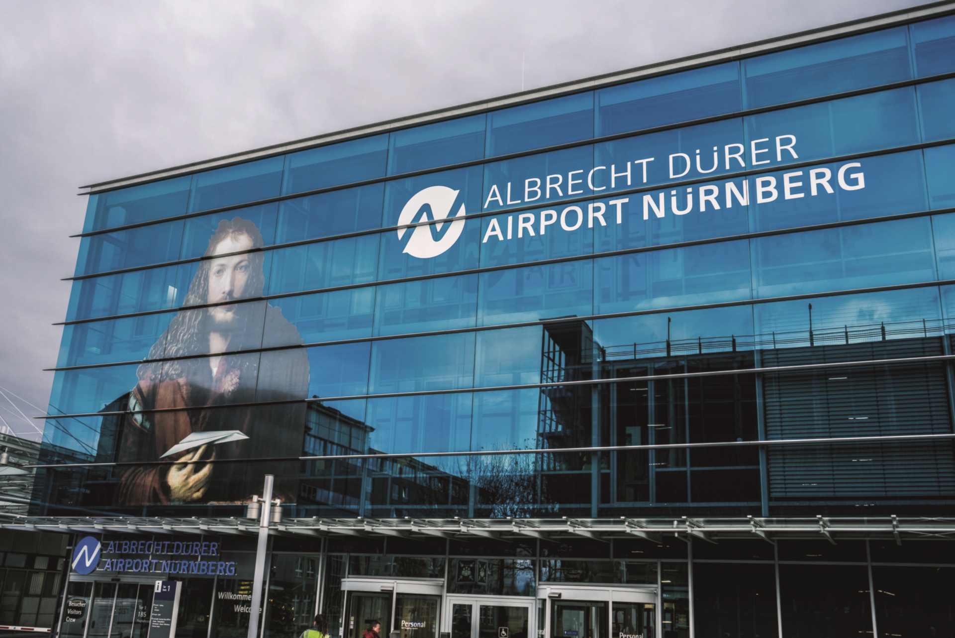 Flughafen Nürnberg Terminal-Eingang