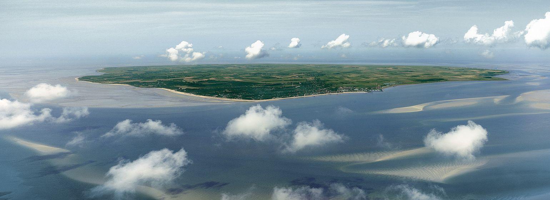 Nordseeinsel Föhr aus der Vogelperspektive