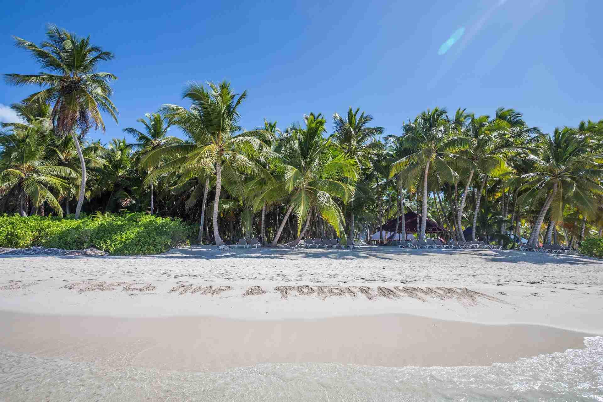 Traumstrand in der Dominikanischen Republik