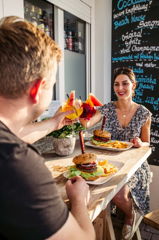 Burger vom Angus-Rind im Beach House Kühlungsborn