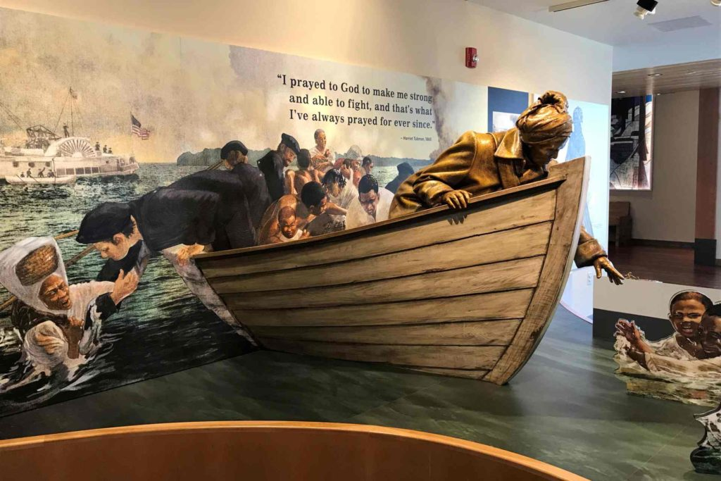 Exponat im Harriet Tubman Underground Railroad State Park