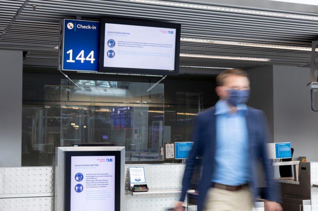 Schutzvorschriften beim Check In am Flughafen Düsseldorf