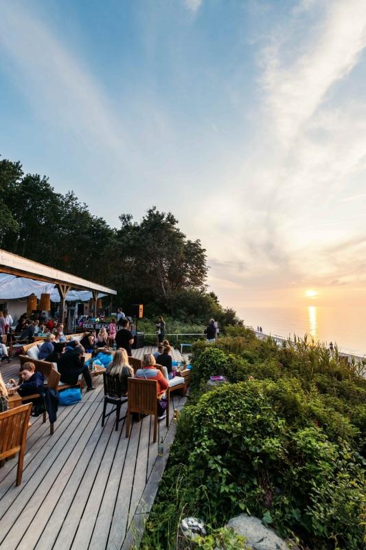 Terrasse der Strandbar Deck Beach Club Heiligendamm
