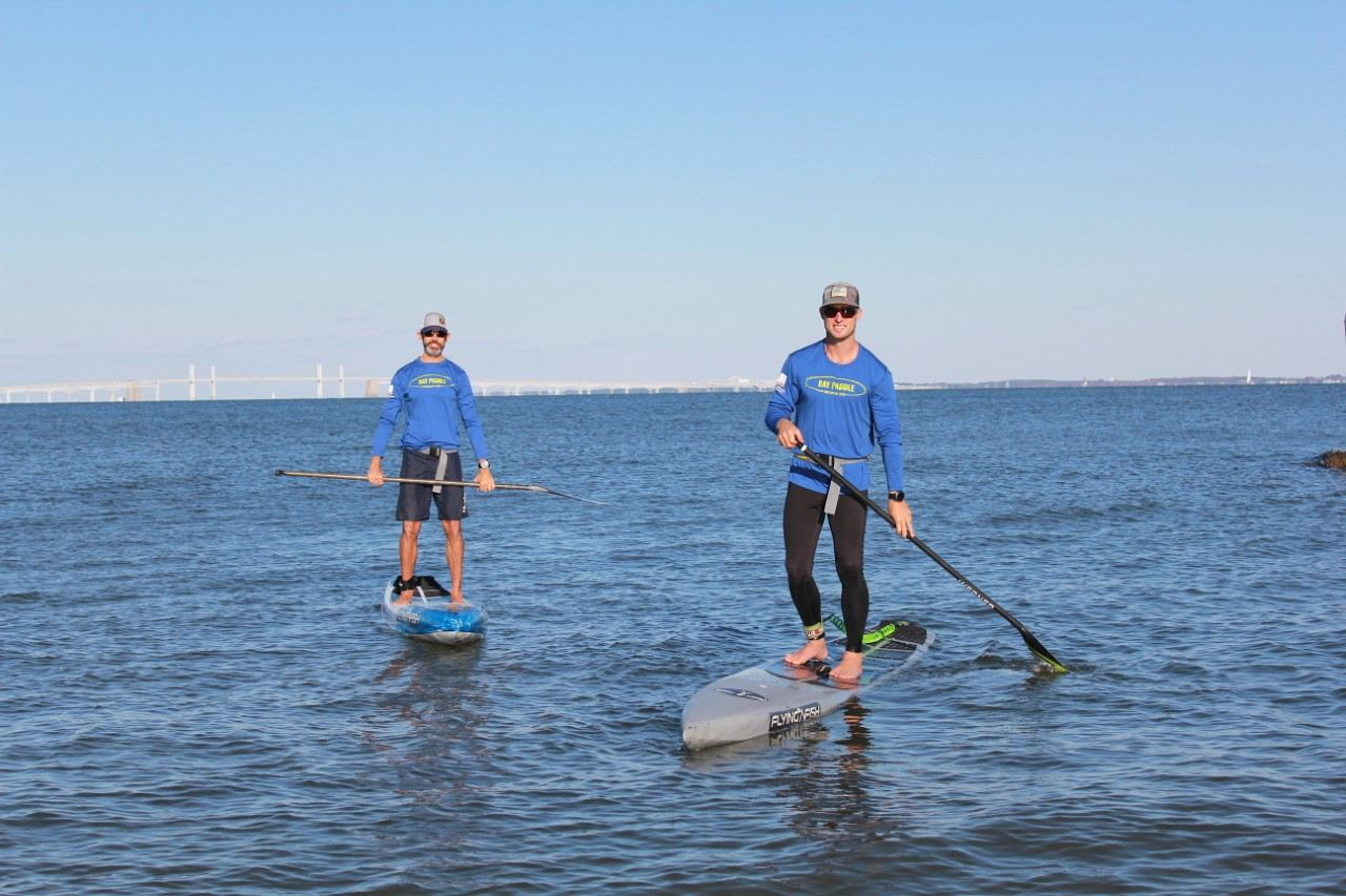 Stand up Paddling für die Austern Chesapeake Bay