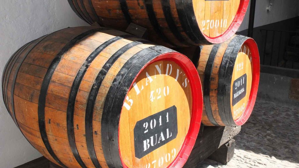 Weinfässer Madeira Wein