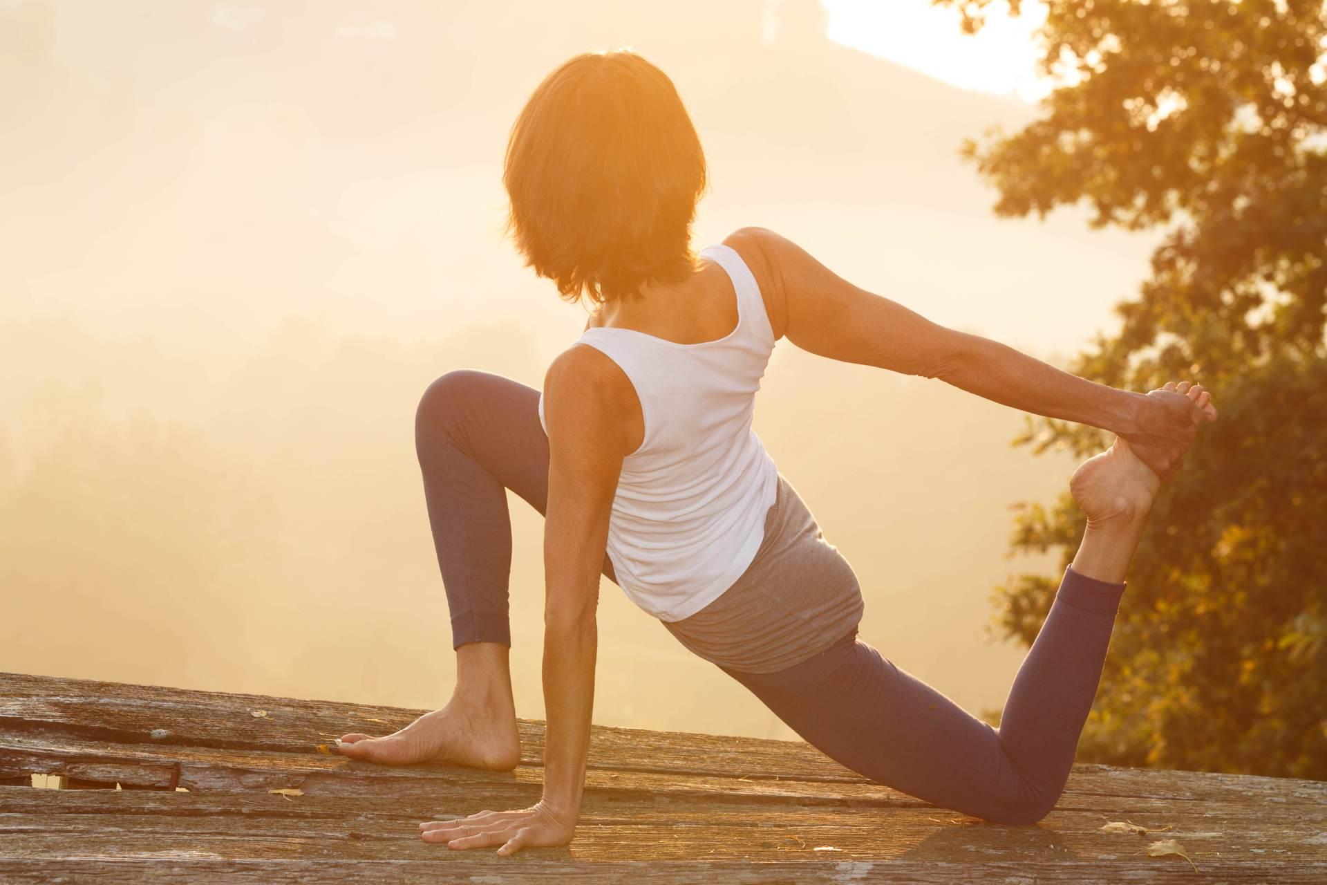 Yoga im Weingarten in der Südsteiermark