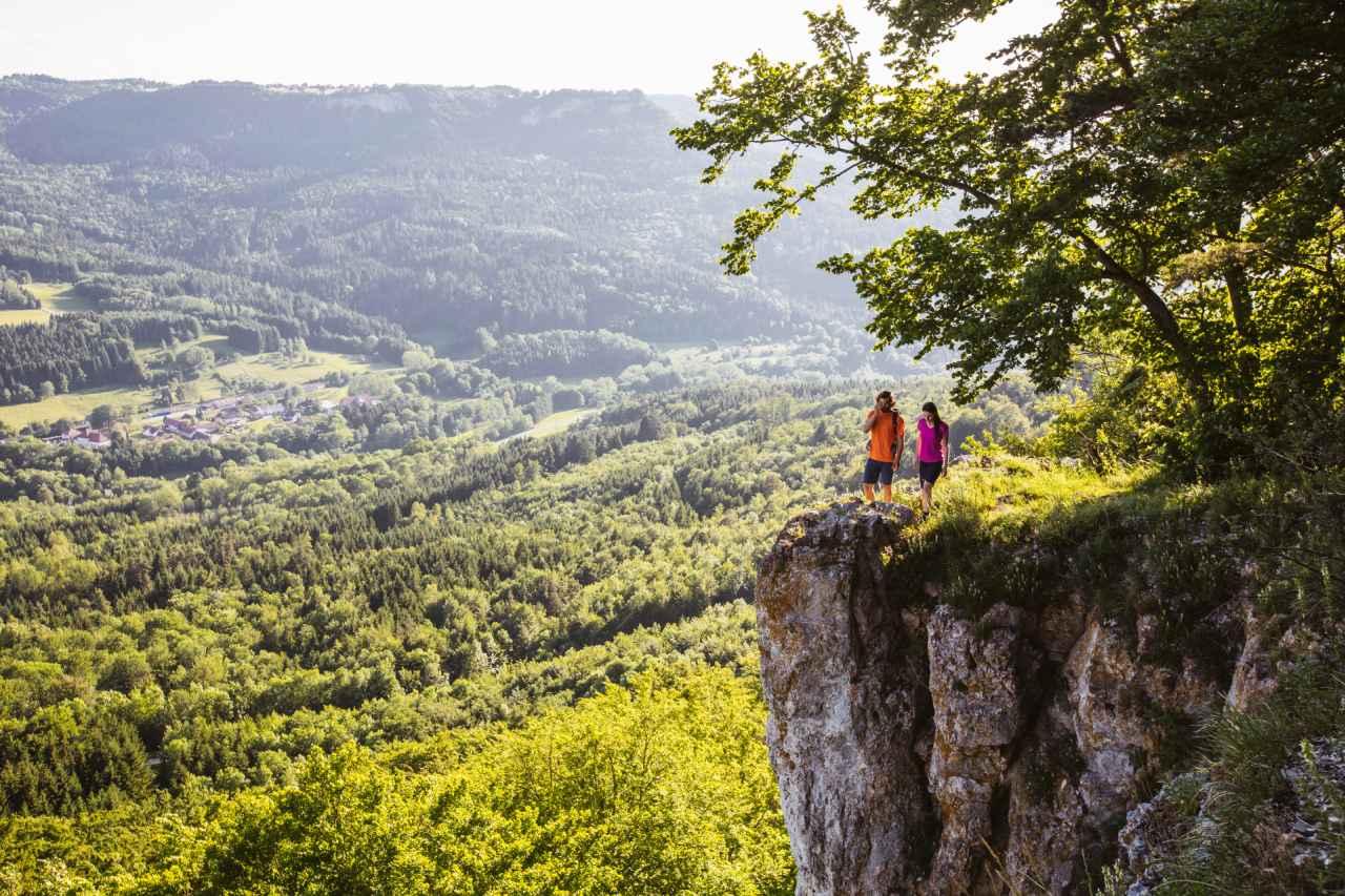 Ausblick vom Küchenfels am Felsenmeersteig
