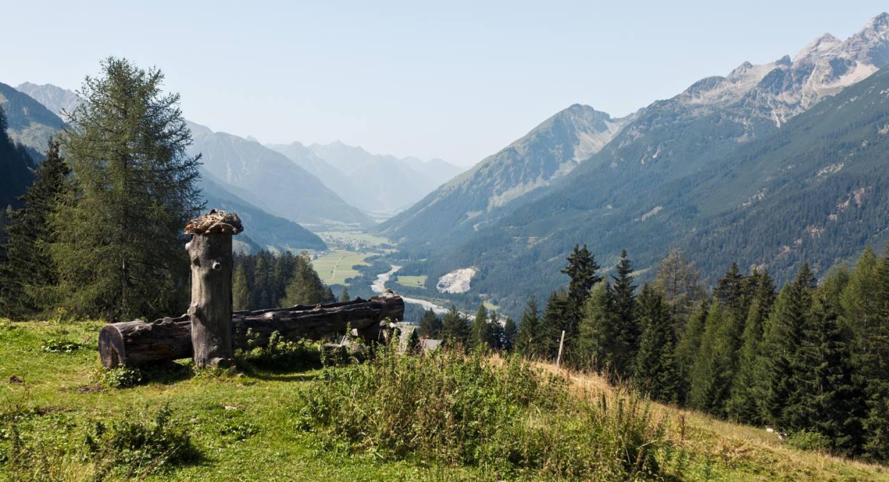 Blick ins Tiroler Lechtal