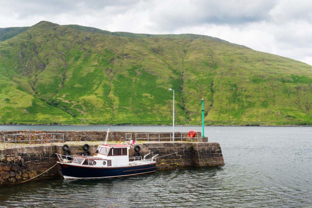 Bootsanlger in Killary Harbour