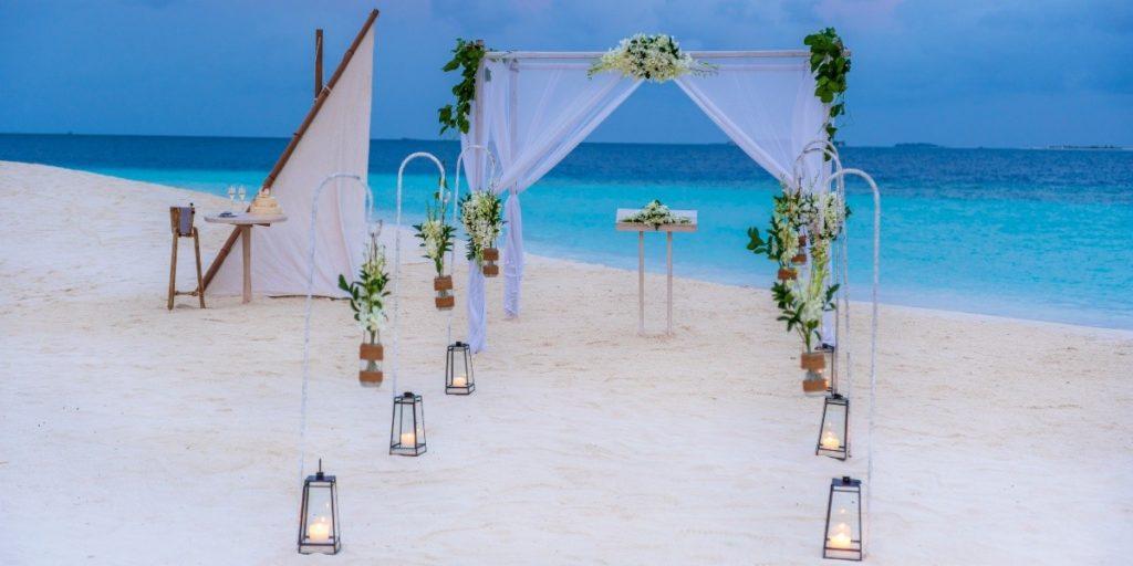 Hochzeitsdekoration im Milaidhoo Island Maldives