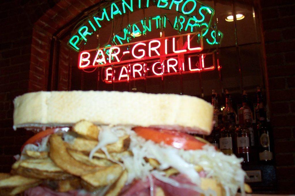 Sandwich von Primanti Brothers aus Pittsburg