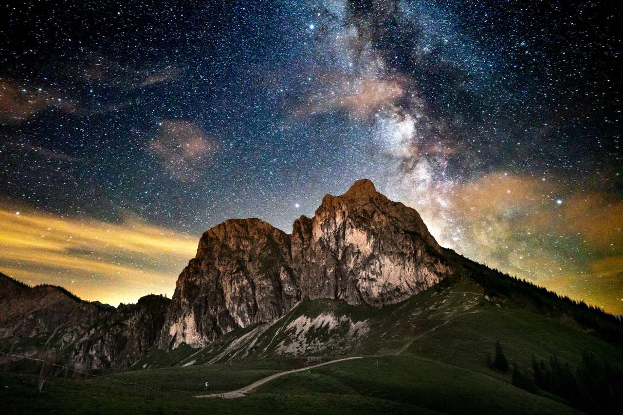 Sternenhimmel über dem Aggenstein