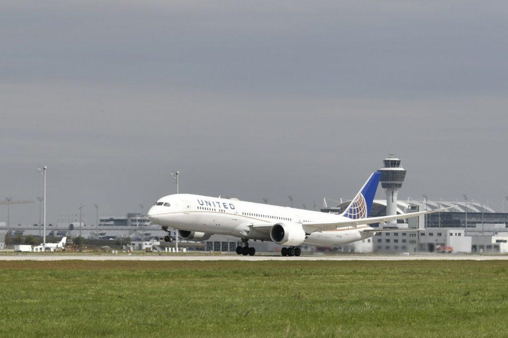 United Airlines Boeing 787-9 Dreamliner am Flughafen München
