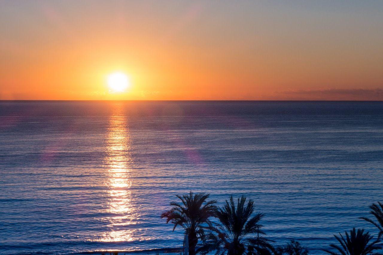 Abendrot vor Mallorca