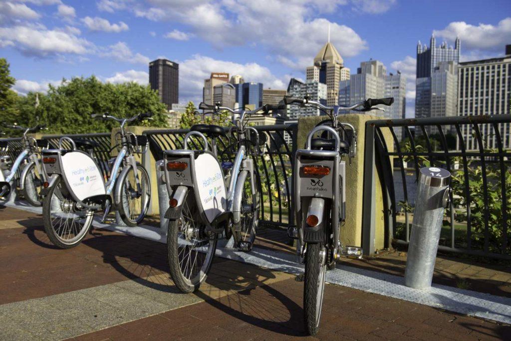 Öffentliche Fahrradverleihstation in Pittsburgh