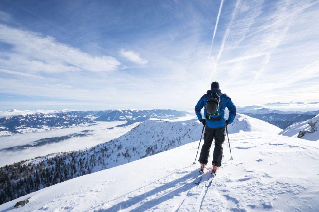 Skifahrer am Sportberg Goldeck