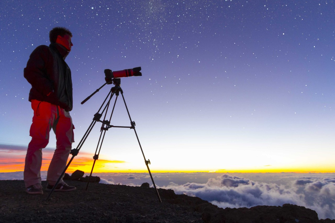 Sternebeobachter auf dem Teide