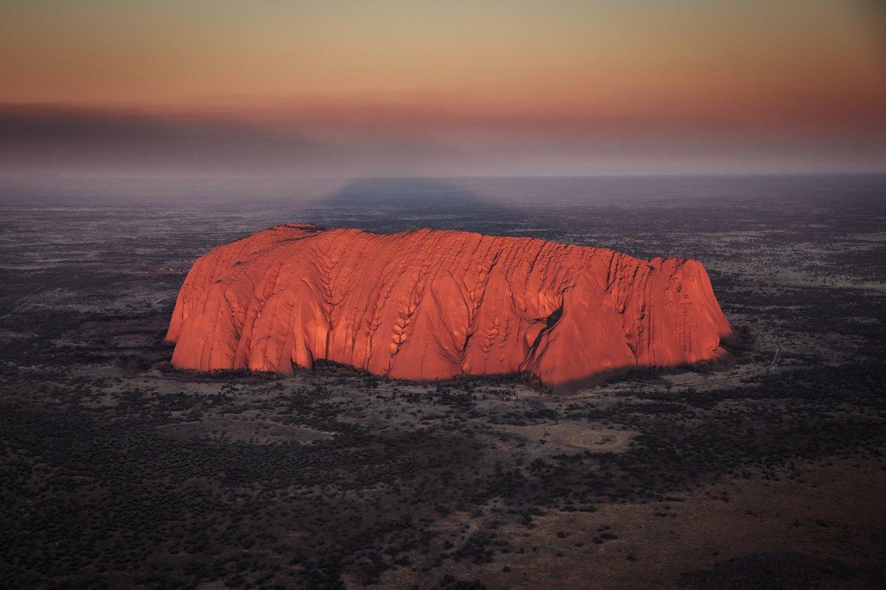 Uluṟu aus der Vogelperspektive