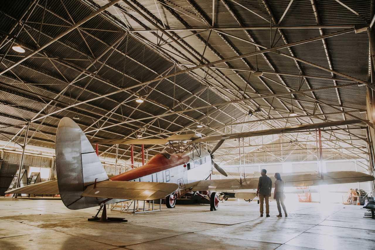 Flugzeug aus den Anfängen von Quantas
