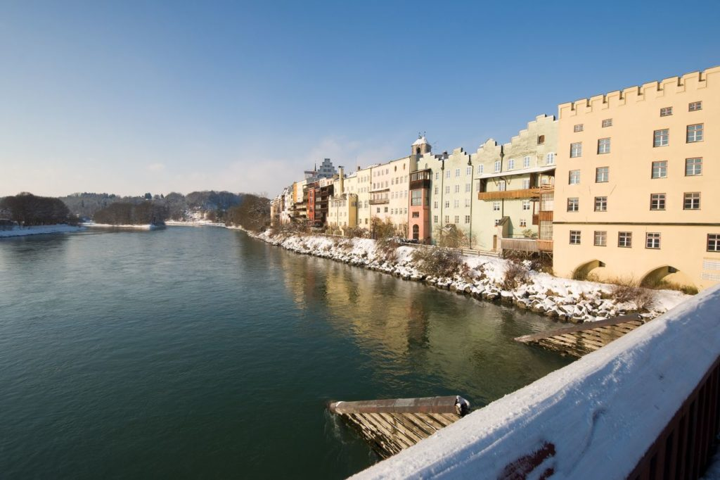 Meditationsweg Wasserburg am Inn im Winter