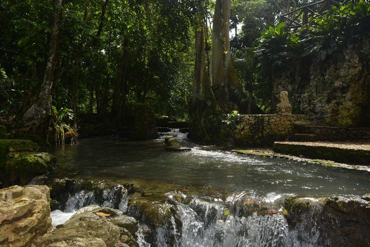 Natur Wasserfall Dominikanische Republik