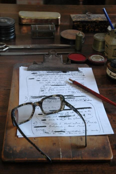 Robert Graves Haus Studio mit Manuskript