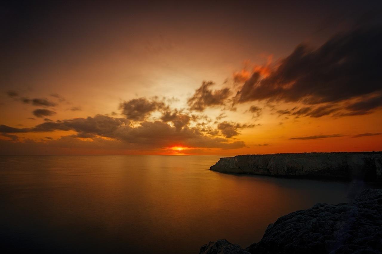 Sonnenuntergang Meer Menorca