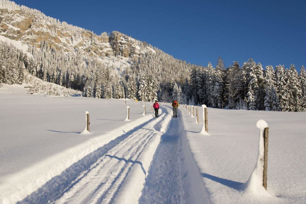 Wanderspuren im Schnee Kitzbüheler Alpen