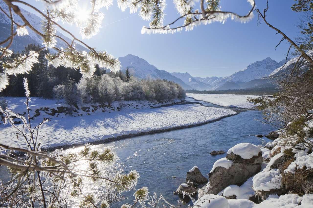 Winterpanorma im Lechtal