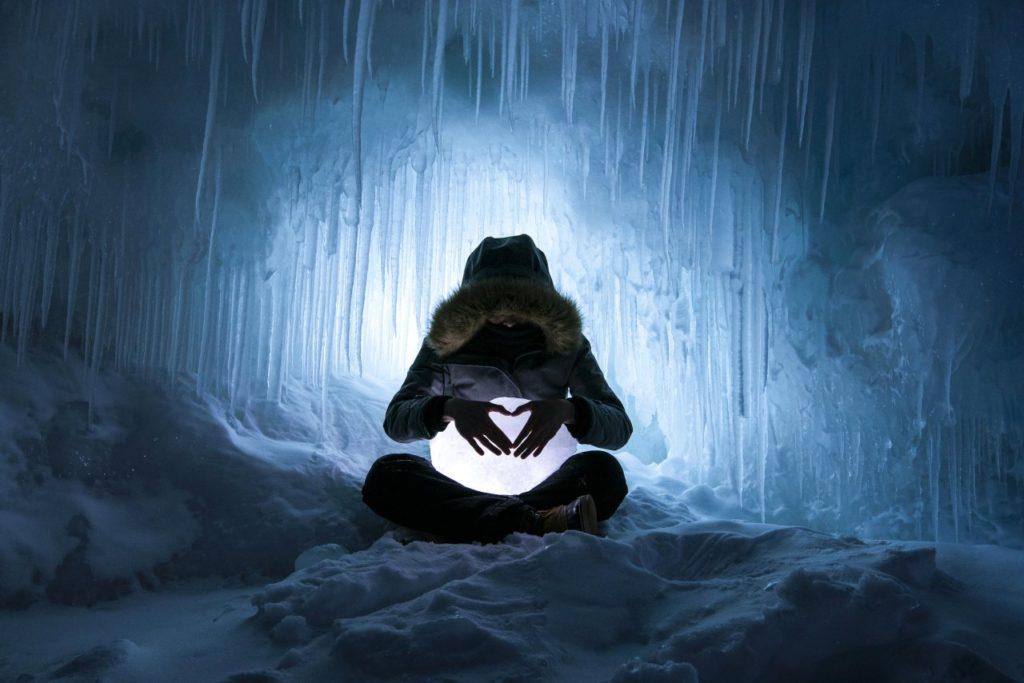 Eishöhle am Lake Superior