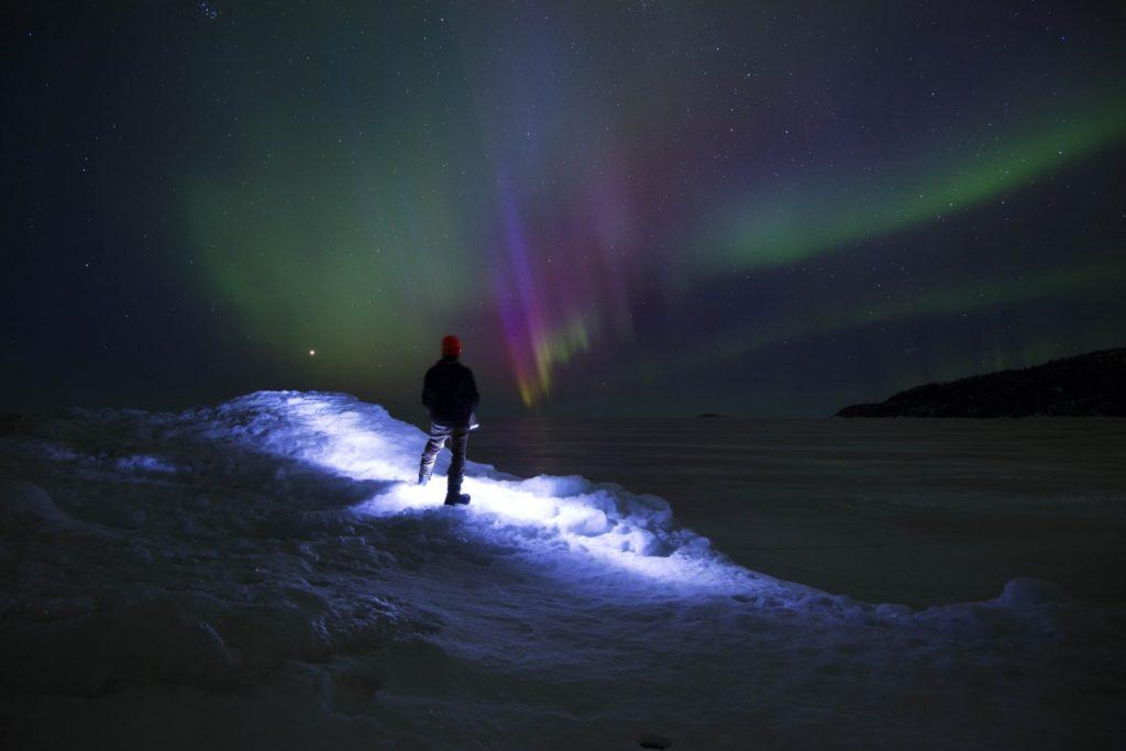 Nordlichter und Sternenhimmel am Lake Superior