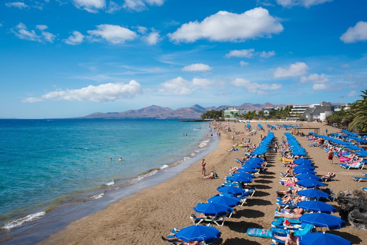 Playa Grande Lanzarote mit Rollstuhl