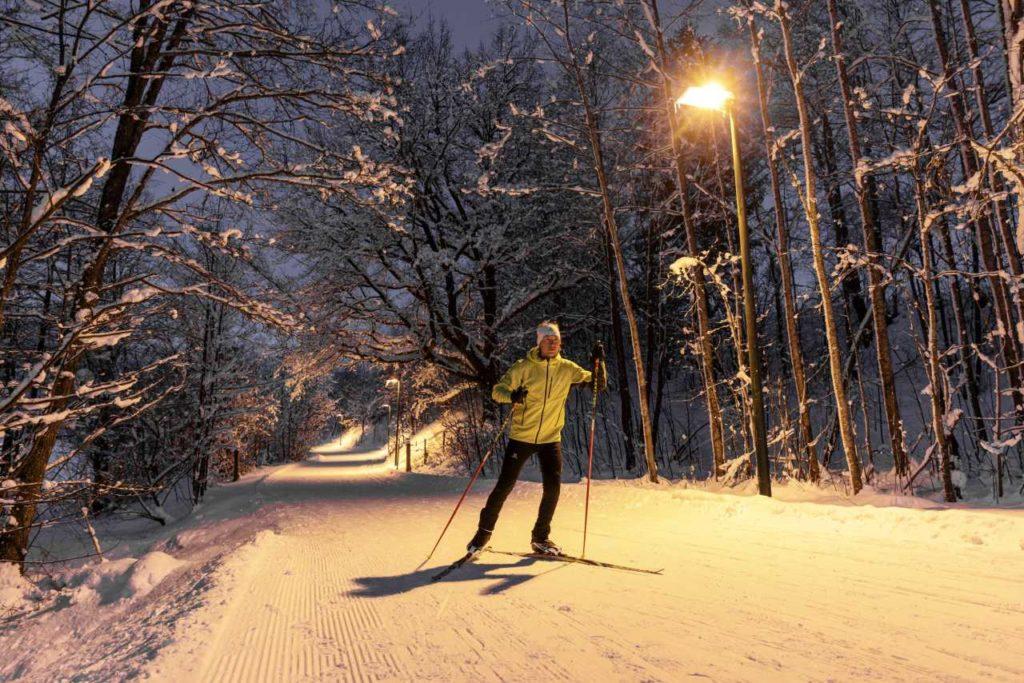 Skilanglauf unter Flutlicht um den Ritzensee