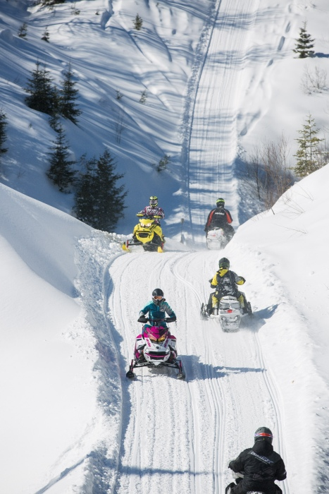 Snowmobil-Highway in Ontario