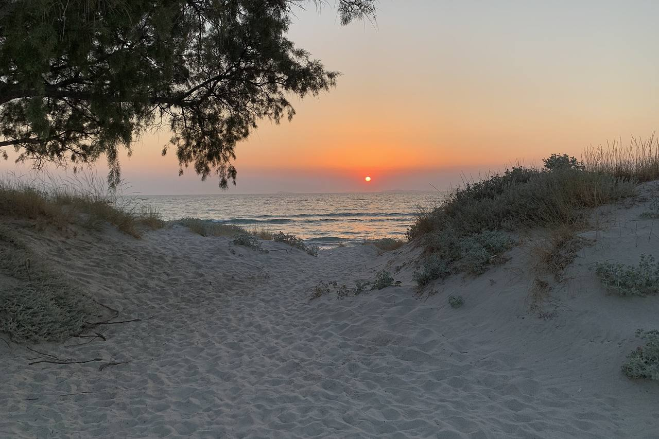 Sonnenuntergang am Strand auf Kos