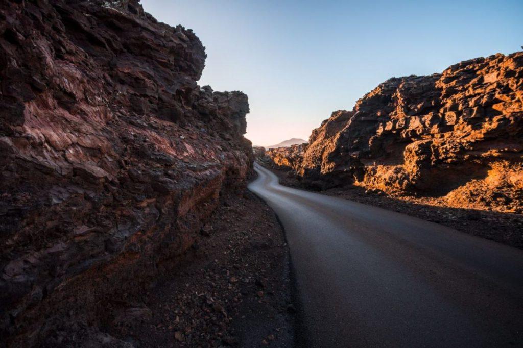 Straße durch den Nationalpark Timanfaya