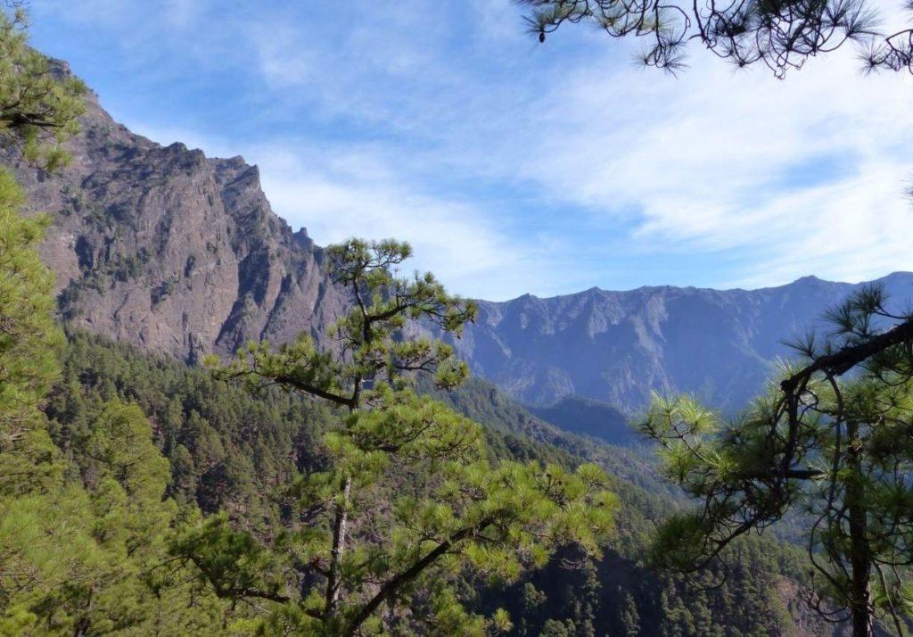 Blick auf den Barranco de las Angustias