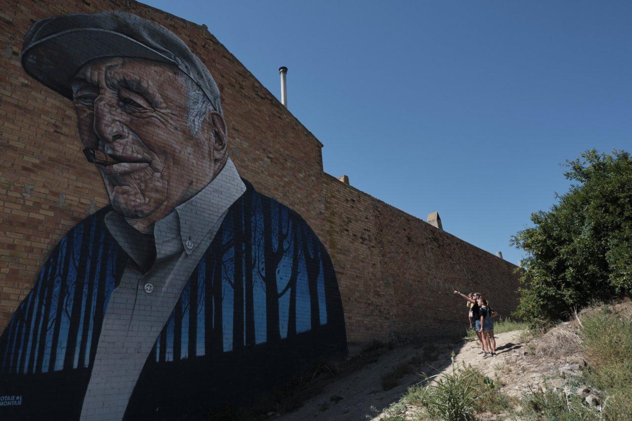Graffiti-Porträt in Penelles