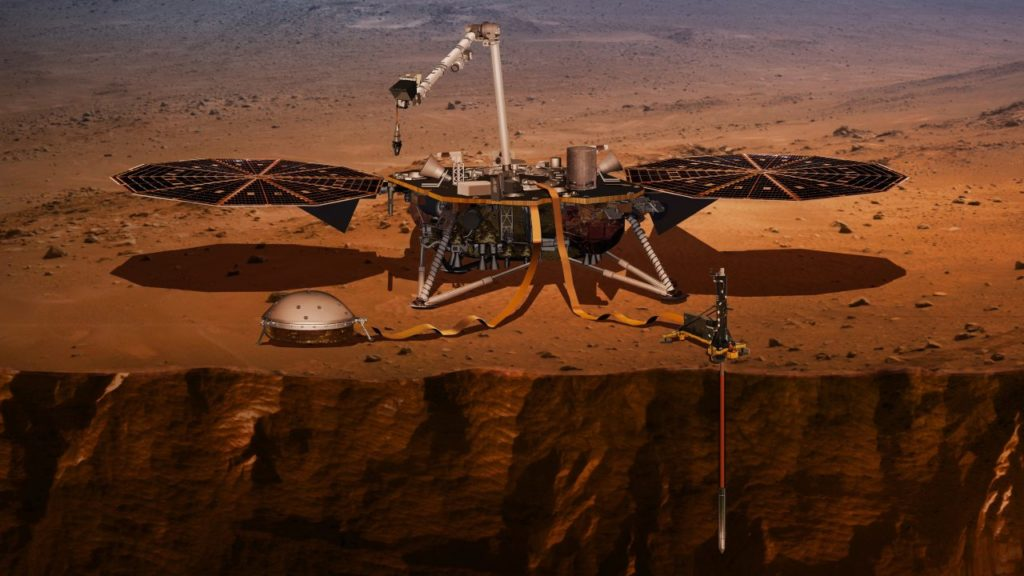NASA-Sonde Insight auf der Marsoberfläche