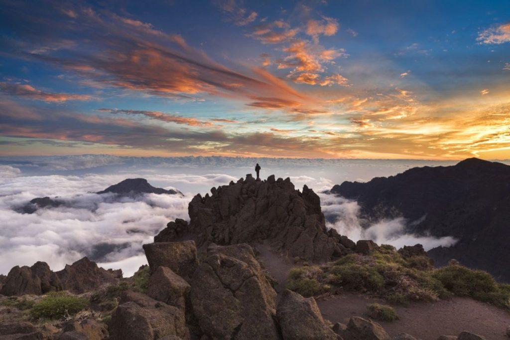 Panorama über den Wolken von La Palma