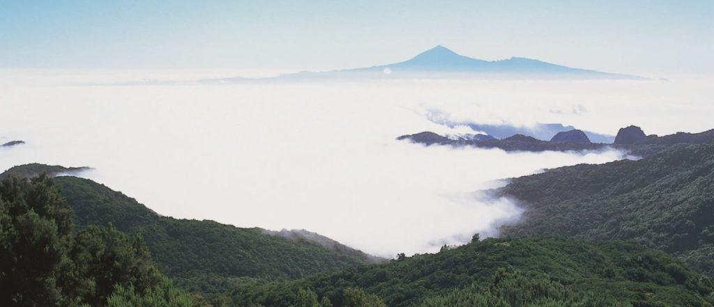Passatwolken über dem Nationalpark Garajonay