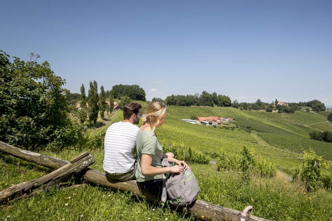 Pause in der Weinregion Südsteiermark