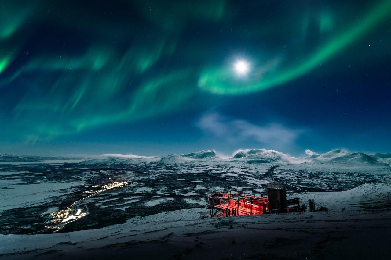Polarlicht in Abisko Nordschweden